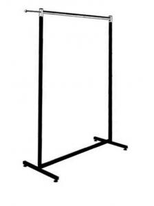Konfektionsständer aus Vierkantrohr 25x25, beschichtet Tragestange und Abhängearm verchromt 160 cm hoch Ausführung Länge: 100 cm, 120 cm, 150 cm, 170 cm Art.-Nr. 4006 wie 4005, jedoch nur 120 cm hoch Ausführung Länge: 100 cm, 120 cm