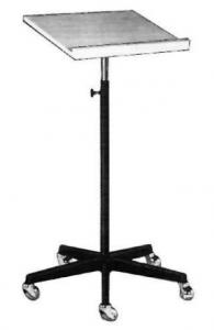 Pultständer beschichtet höhenverstellbar von 85-140 cm mit 5-armigem LM-Fuß ø60 cm Auszug verchromt Schreibpult 40x50 cm mit Rollen, 2 mit Feststeller